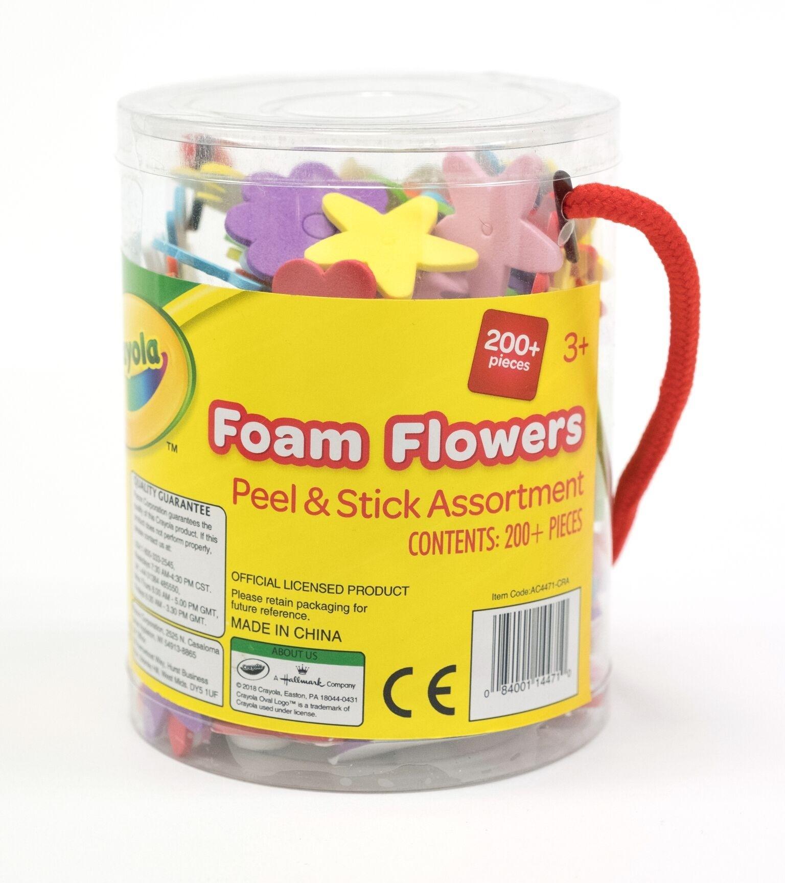 Crayola Craft Foam Flowers Tub The Learning Lab